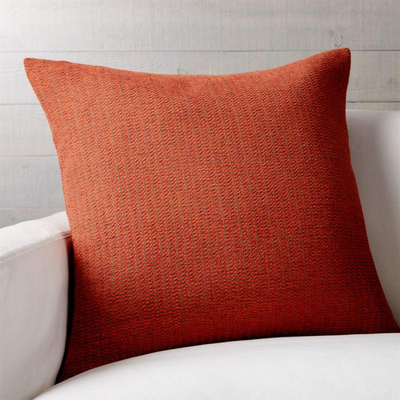 Orange Throw Pillows Crate And Barrel : Orange Decorative Pillow Crate and Barrel