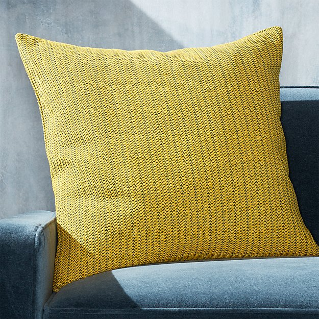 "Liano Yellow Monochrome Pillow 23"" - Image 1 of 6"