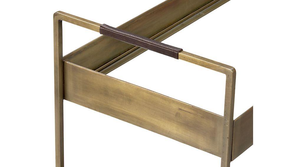 Libations Antique Brass Bar Cart