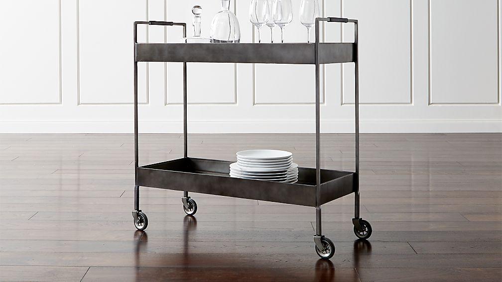 Brand new Libations Carbon Bar Cart + Reviews | Crate and Barrel GC23