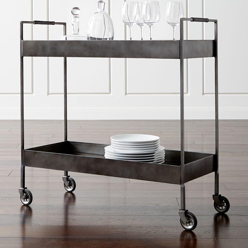 Libations Carbon Bar Cart - Crate and Barrel
