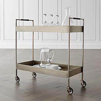 Libations Platinum Bar Cart