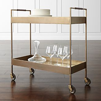 Bar Carts And Bar Cabinets Crate And Barrel