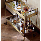 View product image Libations Antique Brass Bar Cart - image 8 of 13