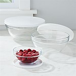 Lidded Glass Bowls, Set of 3