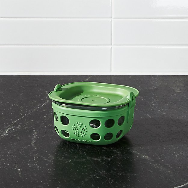 Lifefactory 1-Cup Grass Green Storage Container