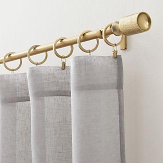 Linen Sheer Light Grey Curtains
