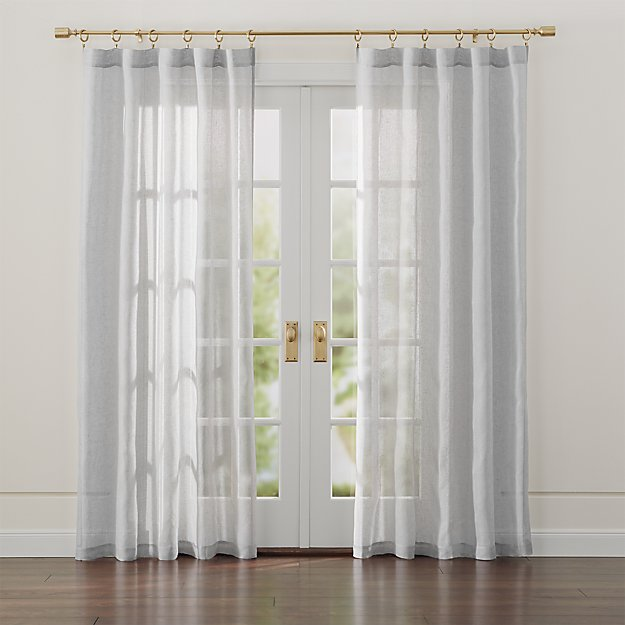Linen Light Grey Sheer Curtains Crate And Barrel