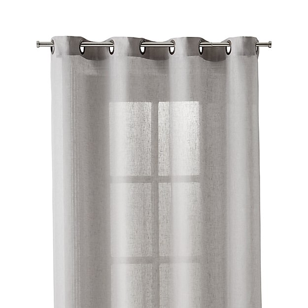 Light Grey Sheer 52x108 Curtain Panel