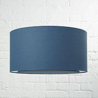 Blue Drum Pendant Light