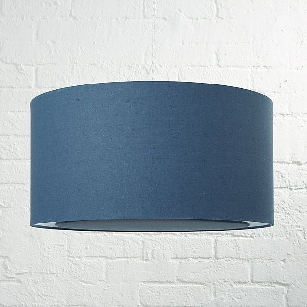 Blue drum pendant light reviews crate and barrel aloadofball Choice Image