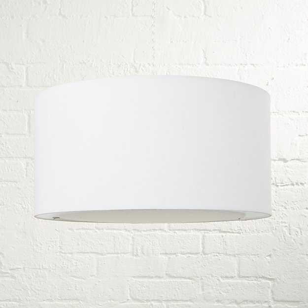 White drum pendant light reviews crate and barrel aloadofball Choice Image