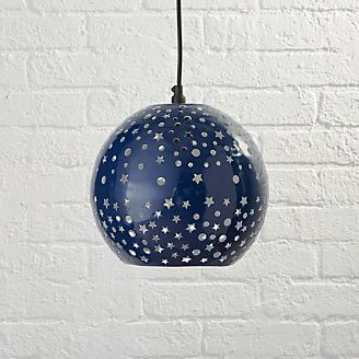 Kids ceiling wall lights pendants more crate and barrel starry night pendant aloadofball
