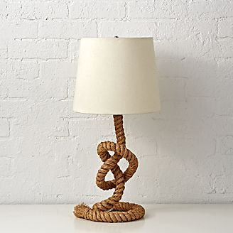 Kids table lamps ceiling floor lamps crate and barrel rope table lamp mozeypictures Image collections