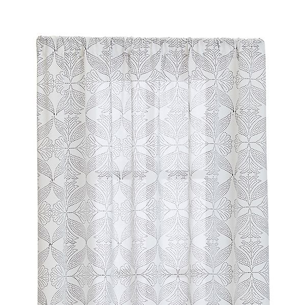 "Lila 48""x96"" Black and White Curtain Panel"