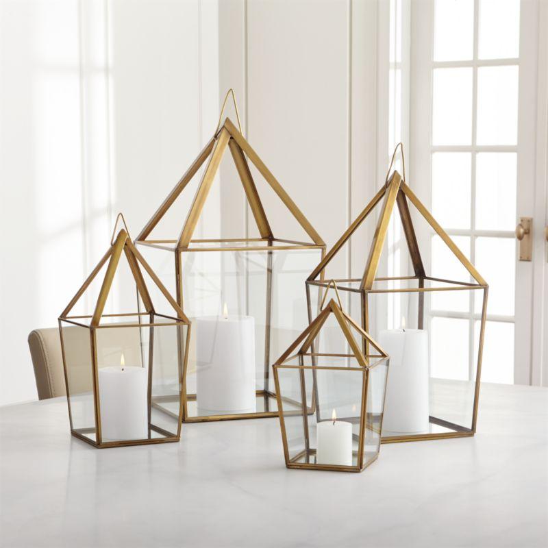 Outdoor Hanging Lanterns With Stand: Lillian Brass Metal Lantern