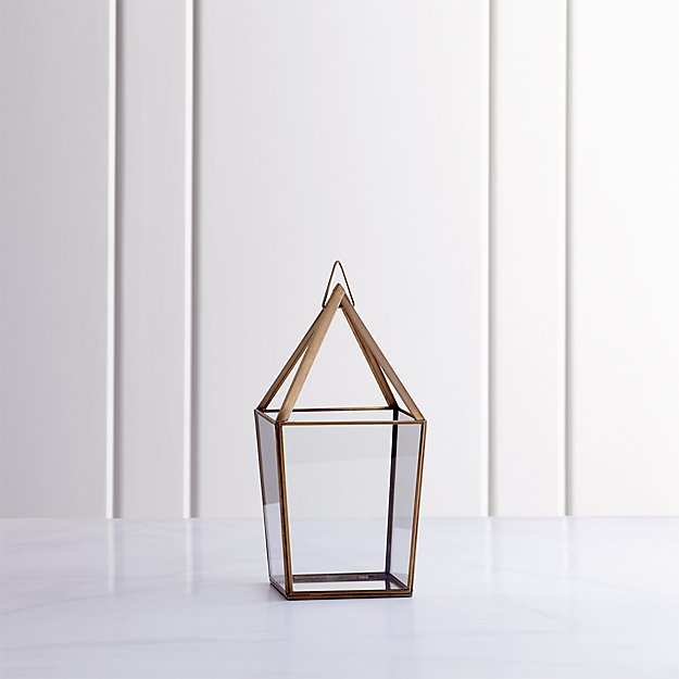 Lillian Brass Medium Lantern