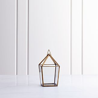 Lillian Brass Metal Small Lantern