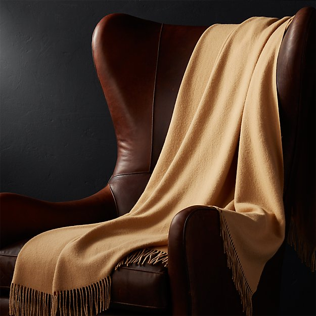Lima Alpaca Camel Brown Throw