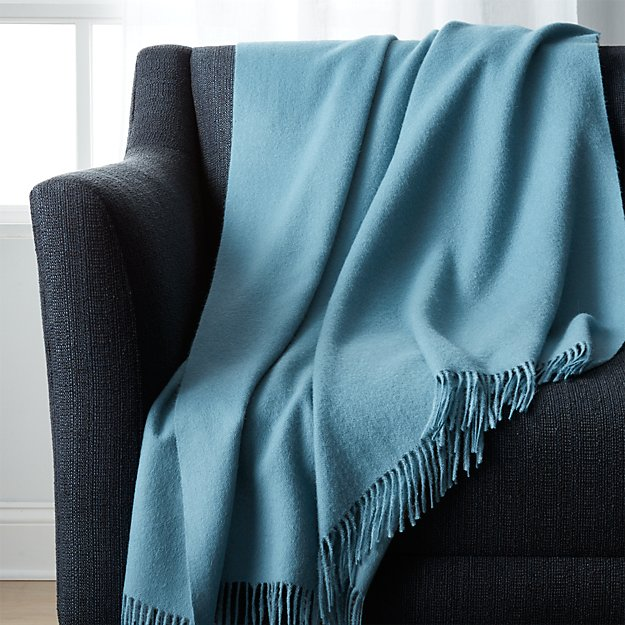 Lima Alpaca Cornflower Blue Throw
