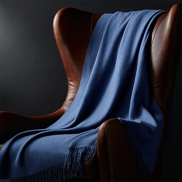 Alpaca dark blue throw blanket crate and barrel for Crate and barrel peru