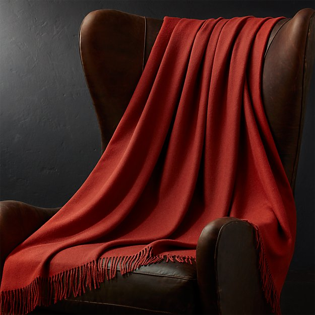 Alpaca red throw blanket crate and barrel for Crate and barrel peru