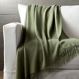 Lima Alpaca Sage Green Throw