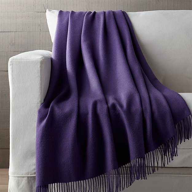 Purple alpaca throw blanket crate and barrel for Crate and barrel peru