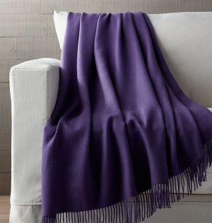 Lima Alpaca Wisteria Purple Throw Blanket
