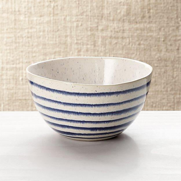 Lina Blue Stripe Cereal Bowl - Image 1 of 7