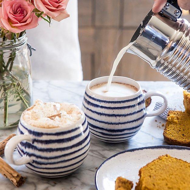 Lina Blue Stripe Coffee Mug Reviews Crate And Barrel