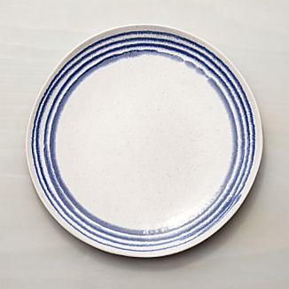 Lina Blue Stripe Dinner Plate