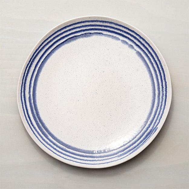 Lina Blue Stripe Dinner Plate - Image 1 of 6