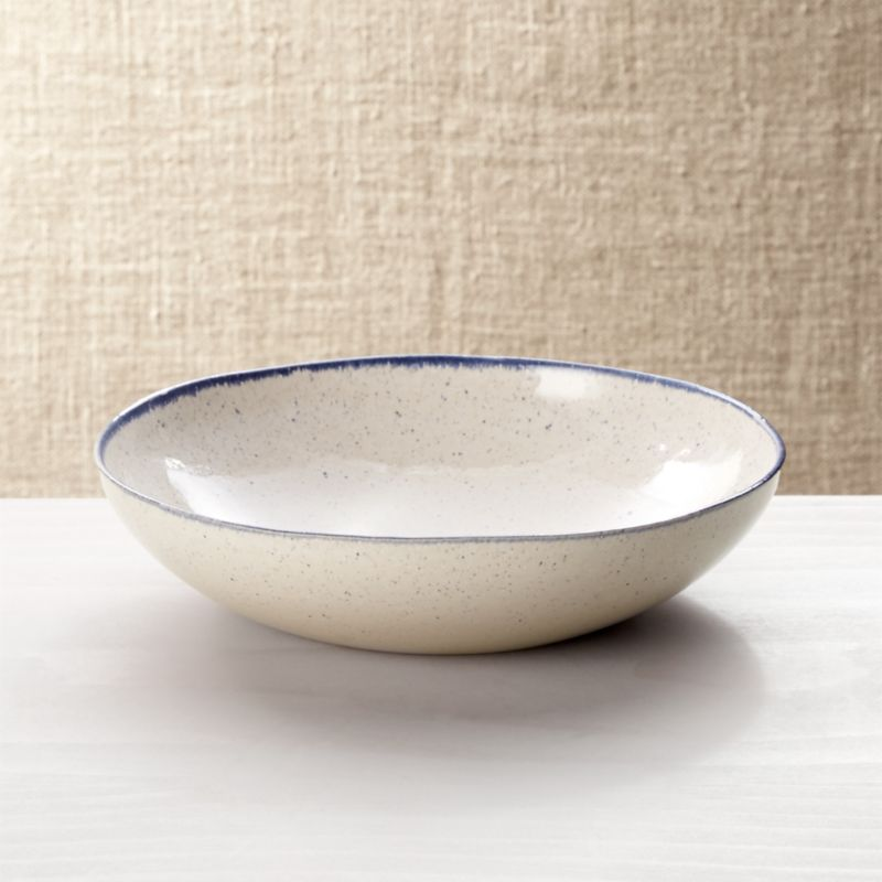 Lina Blue Stripe Pasta Soup Bowl Reviews Crate And Barrel