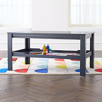 Large Charcoal Adjustable Kids Table Storage Tray & Kids Play and Activity Tables u0026 Chairs | Crate and Barrel