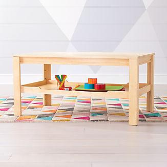 Large Natural Adjustable Kids Table Storage Tray
