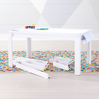 Complete Large Adjustable White Kids Table Set  sc 1 st  Crate and Barrel & Kids Play and Activity Tables \u0026 Chairs | Crate and Barrel