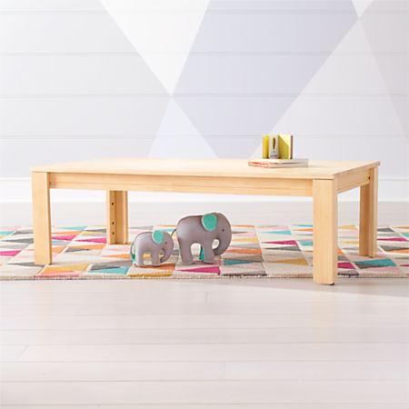 Large Natural Adjustable Kids Table W 15 Legs