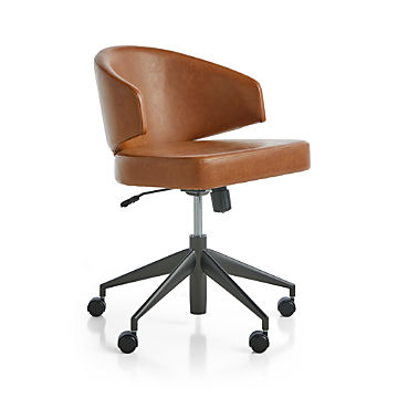 Brilliant Home Office Chairs Swivel Casters Leather More Crate Download Free Architecture Designs Scobabritishbridgeorg