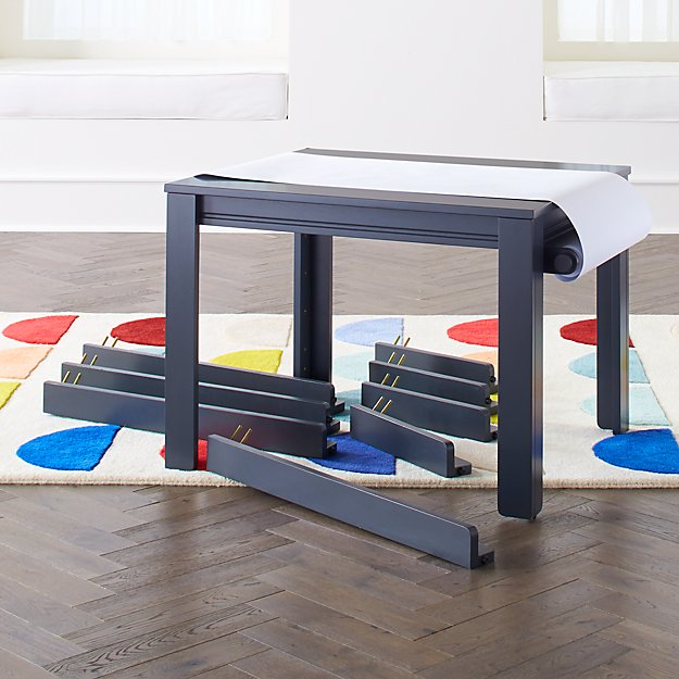 Small Charcoal Adjustable Kids Table, Leg Set and Paper Roll - Image 1 of 5