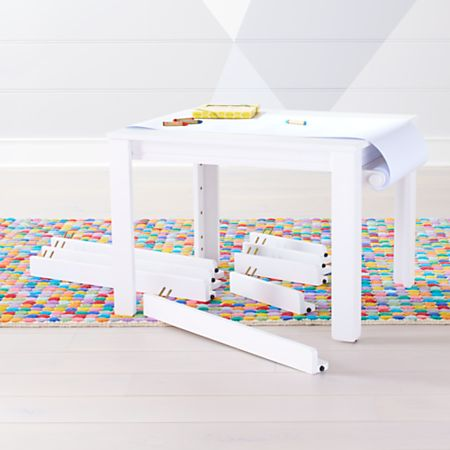 Prime Small White Adjustable Kids Table Leg Set And Paper Roll Pabps2019 Chair Design Images Pabps2019Com