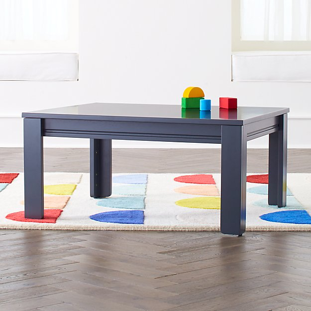 "Small Charcoal Adjustable Kids Table w/ 15"" Legs - Image 1 of 3"