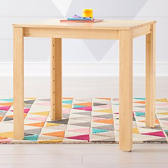 Small Natural Adjustable Kids Table W 30 Legs