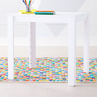 """Small White Adjustable Kids Table w/ 30"""" Legs"""