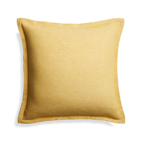 Linden18x18SaffronPillowS17