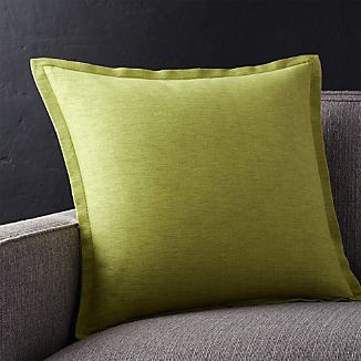 "Linden Apple Green 18"" Pillow with Down-Alternative Insert"