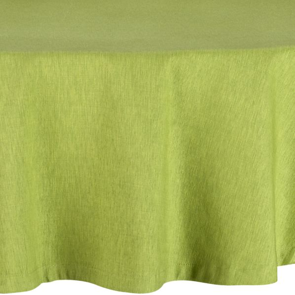 "Linden Asparagus 90"" Round Tablecloth"
