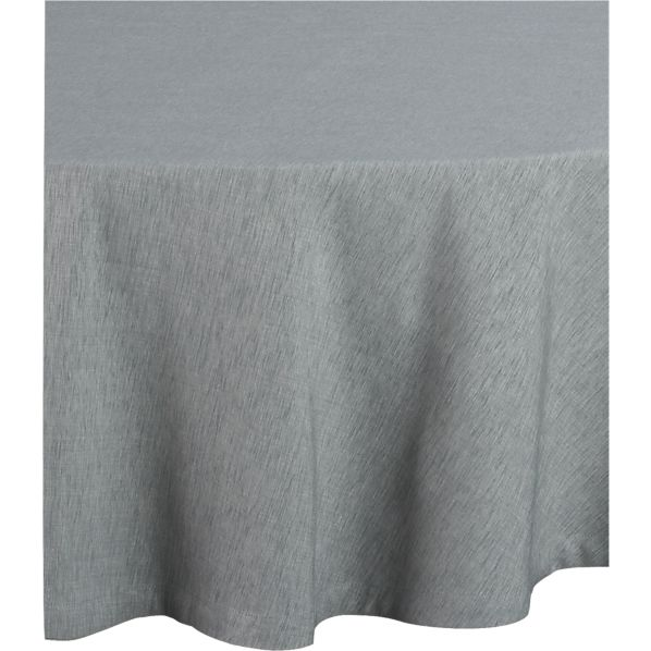 "Linden Dove 90"" Round Tablecloth"