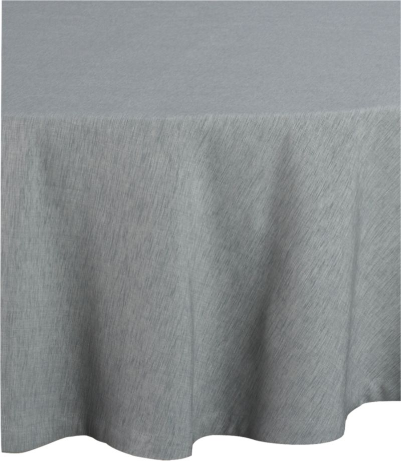 """Richly textured cotton-rayon tablecloth is woven in a tone-on-tone hue for all year round. Custom-tailored with 1.5"""" hem and mitered corners.<br /><br /><NEWTAG/><ul><li>Cotton-rayon blend tablecloths</li><li>Oversized to allow for shrinkage</li><li>Machine wash tablecloth cold, tumble dry low, and iron damp</li><li>Made in India</li></ul>"""
