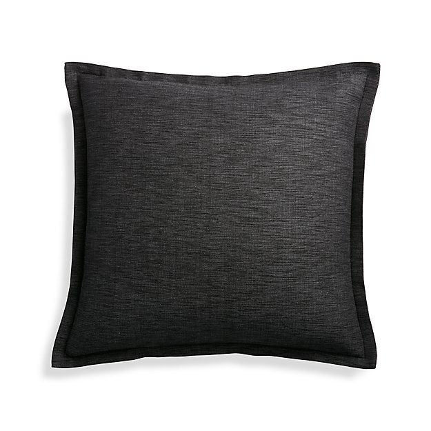 Crate And Barrel Decorative Pillow Cases : Linden Ebony 18